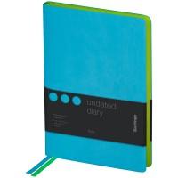 Ежедневник недатир. A5, 136л., кожзам, Berlingo Fuze, цветной срез, бирюзовый