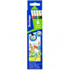 Цветные карандаши 06 цв. Berlingo Замки, заточен.