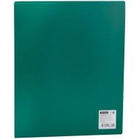 Папка на 2 кольцах OfficeSpace 25мм 500мкм, зеленая