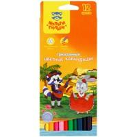 Цветные карандаши 12 цв. Мульти-Пульти Енот в Испании, трехгран., заточен.