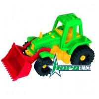 Трактор Ижора с грейдером, 11*20,5*11 см