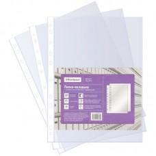 Папка-вкладыш (файл) с перфорацией А4 OfficeSpace, 40мкм, глянцевая (100 шт.)