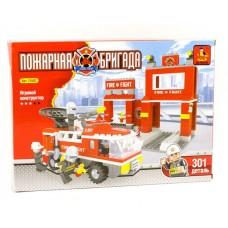 Конструктор Пожарная станция. Пожарная бригада, 301 дет.