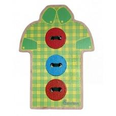 Шнуровка Рубашка с пуговицами