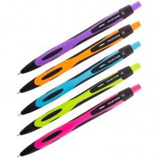 Ручка шарик. синяя автомат. 0,7мм Berlingo ColorZone, корпус цвет ассорти