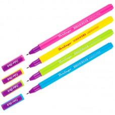 Ручка гелевая черная 0,5мм Color Stick, корпус цвет ассорти