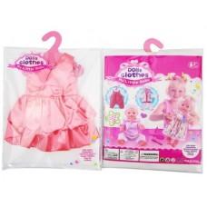 Одежда для кукол: платье атласное (розовый цвет) Gcm18-12, 25,5x36x1см