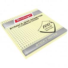 Самоклеящийся блок 76*76 мм, 100 л, желтый