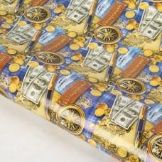 Бумага упаковочная глянцевая Поздравляю!, 70 х100 см, 1167485