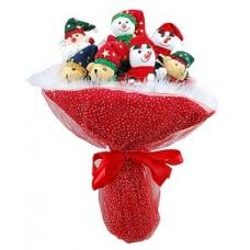 Букет из мягких игрушек 1376 красный
