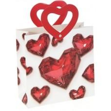 Пакет подар. (средн.) Красные сердца