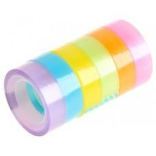 Клейкая лента декоративная Цветные полоски, микс, дл. 11 м., ш. 1,2 см