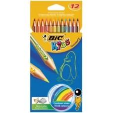 Цветные карандаши 12 цв. Bic Tropicolors2