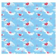 Бумага упаковочная глянцевая Воздушные сердца, 70х100 см, 80 г/м2