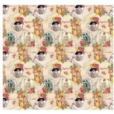 Бумага упаковочная глянцевая Дамы винтаж, 70х100 см, 80 г/м2