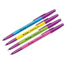 Ручка шарик. синяя 0,7мм W-219 color, ассорти